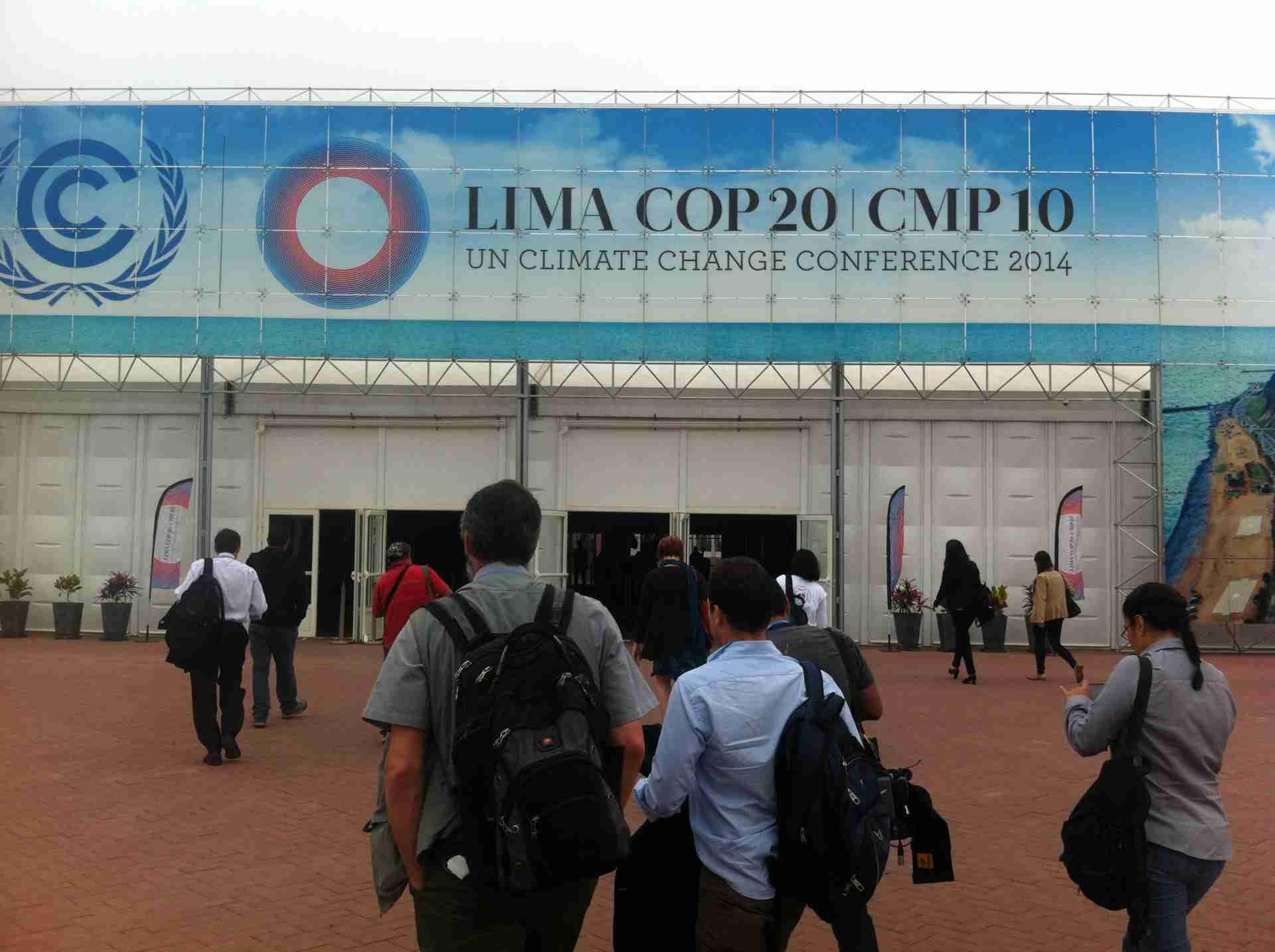 Indgangen til COP20 i 2014